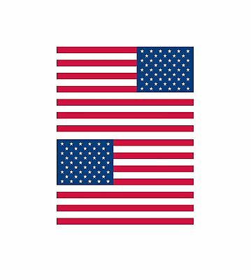 American United States of America Flag decal/stickers set of (2) 2.5x4 FLG1 LHRH