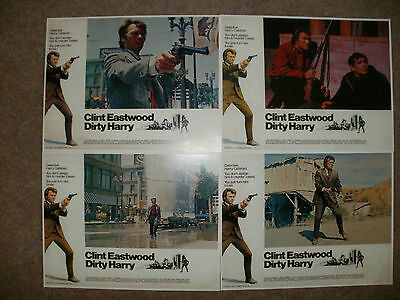 """DIRTY HARRY"" (Clint Eastwood) - Full Set of 8 Lobby Cards - NEW & SEALED"