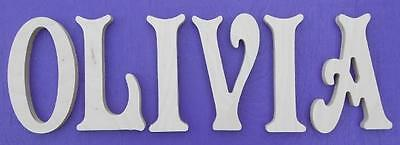 """12"""" size Unpainted Nursery Wood Wall Letters  Wooden Name Child Baby $7 shipping"""