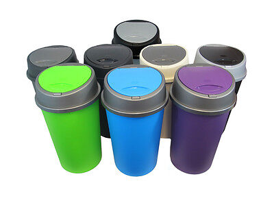 Pack Of 2 - 45L Touch Top Kitchen Bin - 13 Colours To Choose From!!!