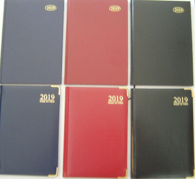 2017 Diary A4/A5/A6 Page A Day/Week to View With Metal Corners or Hard Back Type