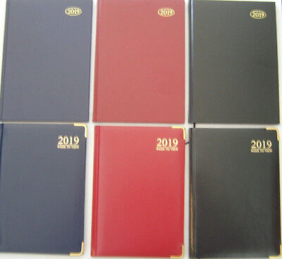 2019 Diary A4/A5/A6 Page A Day/Week to View With Metal Corners or Hard Back