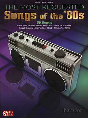 The Most Requested Songs of the 80s Piano Vocal Guitar Sheet Music Book