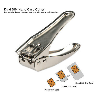 Universal Cutting Edge Micro Nano SIM Card Cutter for All Smartphone +3 Adapters