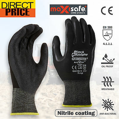 Work Gloves General Purpose Dip Coated Protective Industrial Safety rub