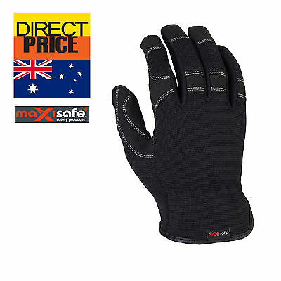 Maxisafe G-FORCE Work Gloves Synthetic Leather General Purpose Handling Working