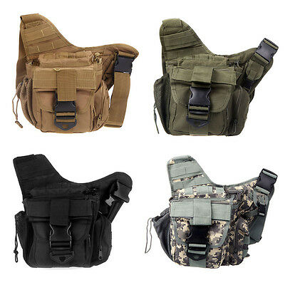 Outdoor Military Molle Tactical Shoulder Bag Pouch Travel Backpack Camera Bag