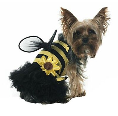 Bumble Bee Dog Costume Fancy Dress Stretch Fabric Apparel