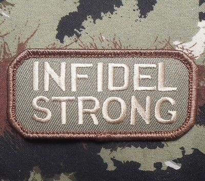 Infidel Strong Army Morale Combat Tactical Forest Velcro® Brand Fastener Patch
