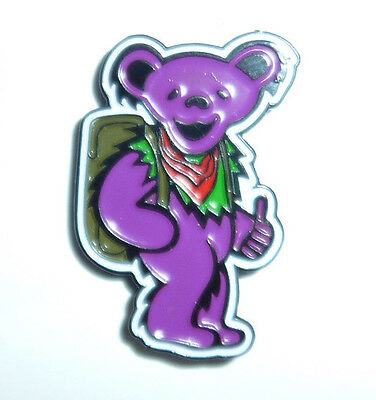 HITCHHIKING PURPLE BEAR Hat Pin Grateful Dead Lot Hitchhiker Lapel New