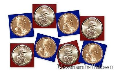 2011 2012 2013 2014 P+D Native American Sacagawea in Mint Wrap from Mint Set