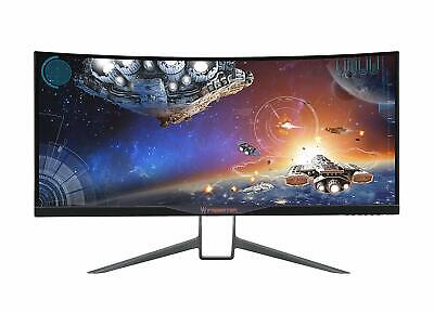 "Acer Predator X34 34"" LED Curved Gaming Monitor 4MS 3440x1440 G-Sync Speaker IPS"