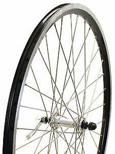 "Bikecorp 26"" Mtb Alloy Qr Bicycle Front Wheel Black"