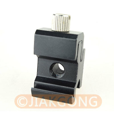"""DSLRKIT HSA-2 Hot Shoe Flash Stand Adapter with 1/4""""-20 Tripod screw"""