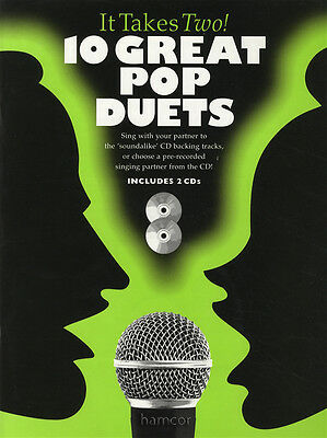 10 Great Pop Duets Piano Vocal Guitar Music Book & 2CDs