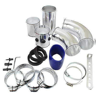Universal Car Air Filter Fitting Kit - Aluminium Tubes For Air Intake/induction