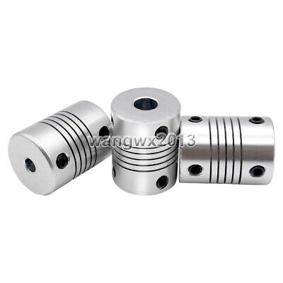 3/4/5/6/7/8/10mm Aluminum Shaft Coupling Flexible Coupler Motor Connector D19L25