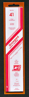 Showgard Stamp Mounts Size 41/215 CLEAR Background Pack of 15