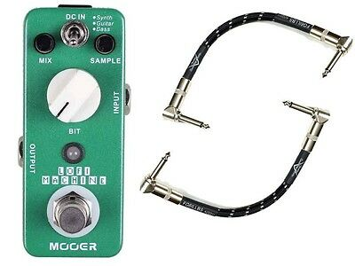 Mooer LoFi Machine Guitar FX Pedal W/ True Bypass & 2 Free Patch Cables
