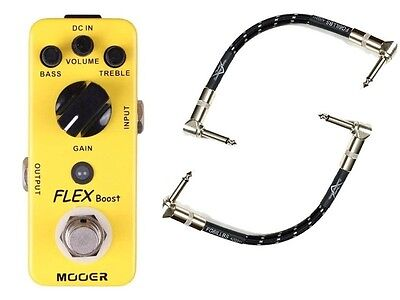 Mooer Flex Boost Guitar FX Pedal With True Bypass & 2 Free Patch Cables