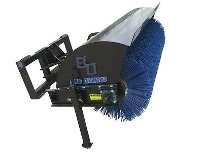 Blue Diamond Poly/Steel Bristles for 72 Inch Rotary Broom Skid Steer Attachment