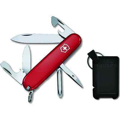 Swiss Army Knife, Red Tinker & Carbide Sharpener, Victorinox 59112, New In Box