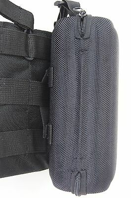 Large eyeglass case w/clip hanger,belt loop & strap clip for attaching to molle