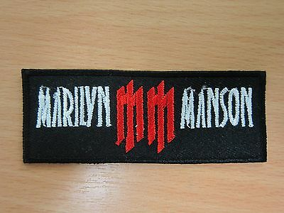 Marilyn Manson embroidered Iron on Patch High Quality Shirt Bag Cap Towel