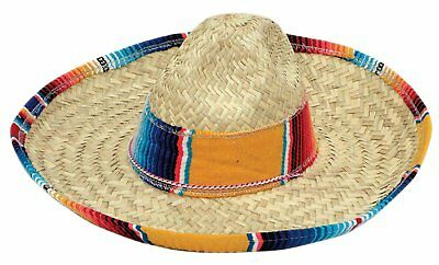 Salsa Spanish Mexican Fiesta Festive Sombrero Straw Hat Child Costume Accessory