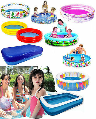 Kids Inflatable Swimming Paddling Pool Garden Play Family Ocean Life Cover Large