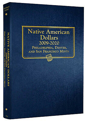 Whitman Classic Coin Album 3210 Native American Dollars 2009-2012 P & D Mints