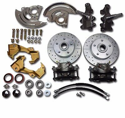 1967 1968 1969 camaro firebird disc brake conversion 2 inch drop spindles