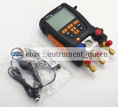 Testo 550-1  Refrigeration Manifold Kit ( 0563 5505) With 1 clamp probe  !!NEW!!