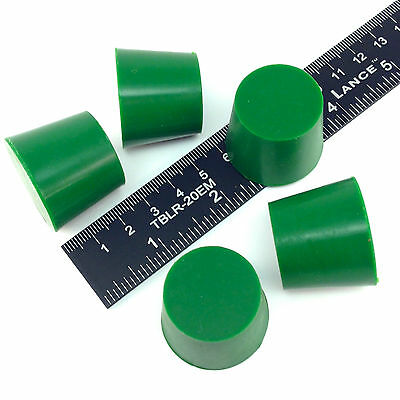 """(5) 1 1/32"""" x 1 1/4"""" #6 High Temp Silicone Rubber Plugs Powder Coating Paint"""