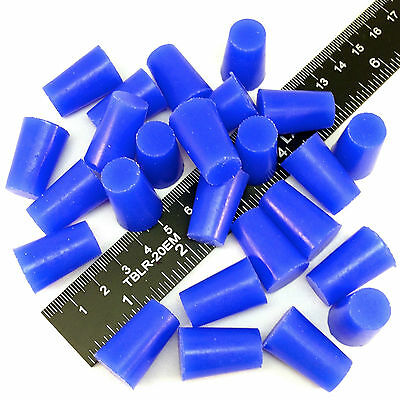 "(10) 1/2"" x 5/8"" High Temp Silicone Rubber Plugs Powder Coating Paint Supplies"