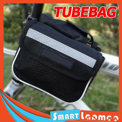 Bike Front Tube Bag Bicycle Frame Pouch Phone Mobile Cycling Accessories AU