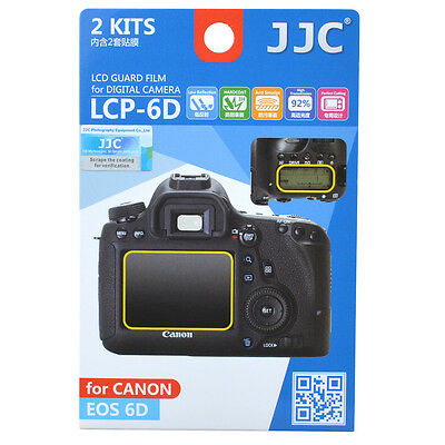 JJC LCP-6D LCD Guard Film Camera Screen Display Protector for Canon EOS 6D