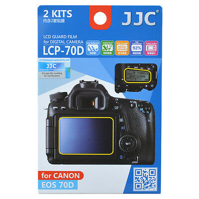 JJC LCP-70D LCD Guard Film Camera Screen Display Protector for Canon EOS 70D