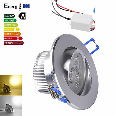 9W LED 3X3W Recessed Ceiling Light dimmable Downlight Spot Lamp warm cool white