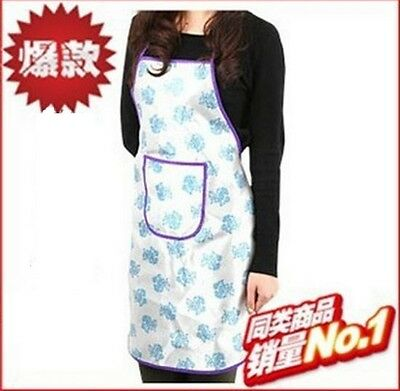 Womens Ladies Pretty Floral Print Aprons with Front Pocket Craft Kitchen Cooking
