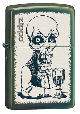 Zippo Chameleon Skull With Drink Windproof Lighter 28679 New