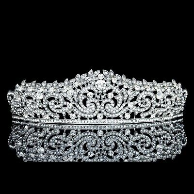 Bridal Pageant Rhinestone Crystal Wedding Prom Crown Tiara 71023