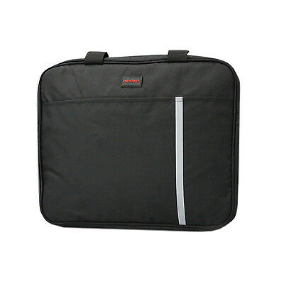 "15.6"" Stylish Black Laptop Notebook Bag Carry Case Cover - 2 Compartments"