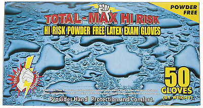 Emerald Total-Max Hi Risk Powder Free Latex Exam Gloves 1 cs of 10 boxes-Large