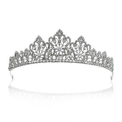 Bridal Floral Rhinestone Crystal Wedding Prom Crown Tiara 71026