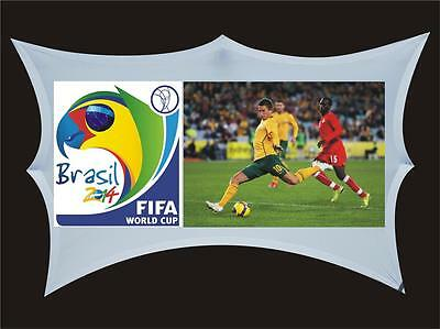 Outdoor Projection Screen 4m + wide Watch Sports Movies - Front or Rear Project