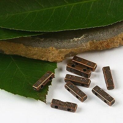 50pcs  copper-tone 2 holes bar spacer beads h2364
