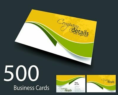 500 Full Colour Double Sided Business Cards printed on 350gsm board 24hr service