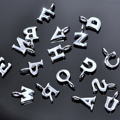 Tiny Sterling Silver Alphabet Letter Genuine Solid 925 Initials Charms