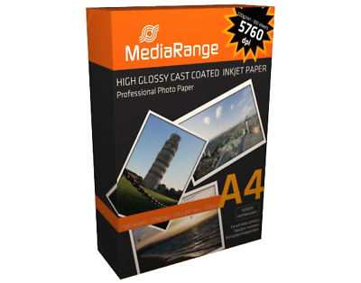 MEDIARANGE DIN A4 220g Photo Papier 100 sheets High Glossy